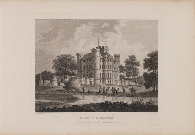 Etching of the castle from 1804.