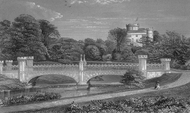 The tournament bridge circa 1876.