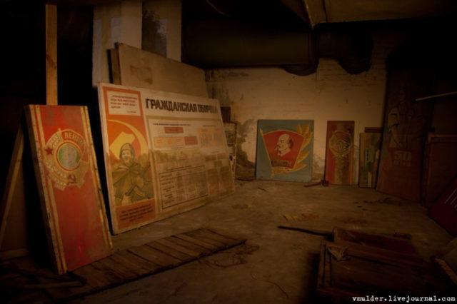 Civil defense guidelines, Lenin,and other Soviet posters © Vladimir Mulder