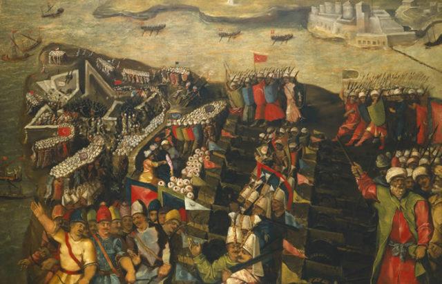 The siege of Malta. Author:Matteo Perez d'Aleccio