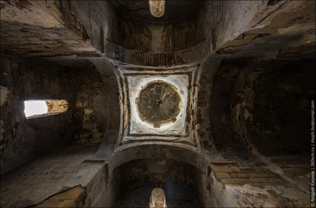 View of church ceiling and dome from below ©Andrey Kirnov