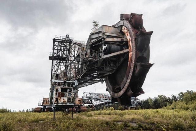 The huge bucket wheel of the excavator ©Eric Heumann vcvty.com