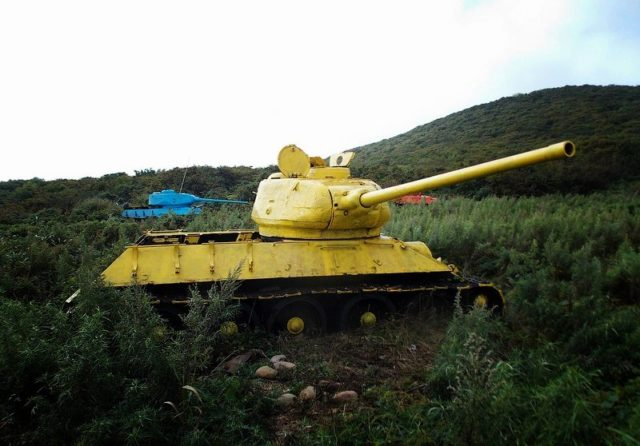 In 2013, the tanks were painted bright colors ©KFSS