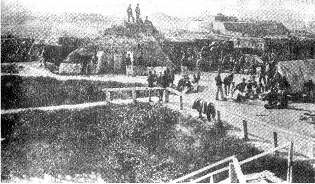 The fort in 1863.
