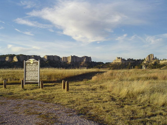 The site of the Red Cloud Agency. Author:Slothus –CC BY-SA 3.0
