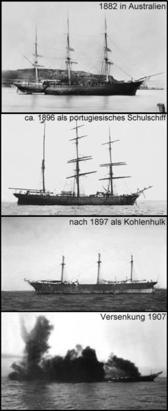 The clipper over the years1882-1907 and her sinking.