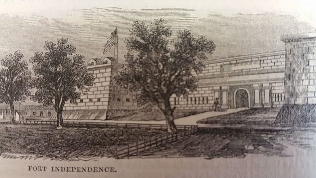 The fort back in 1812. Author: Benson Lossing