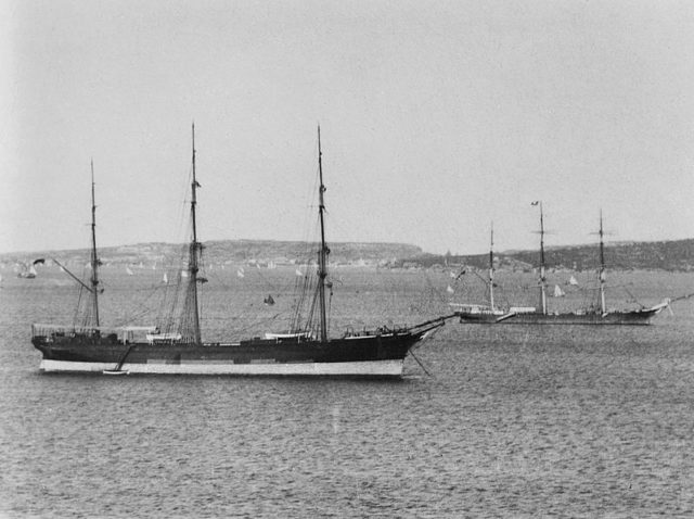 Thermopylae was one of a series of vessels built by Walter Hood for the Aberdeen White Star Line and designed by Bernard Waymouth.
