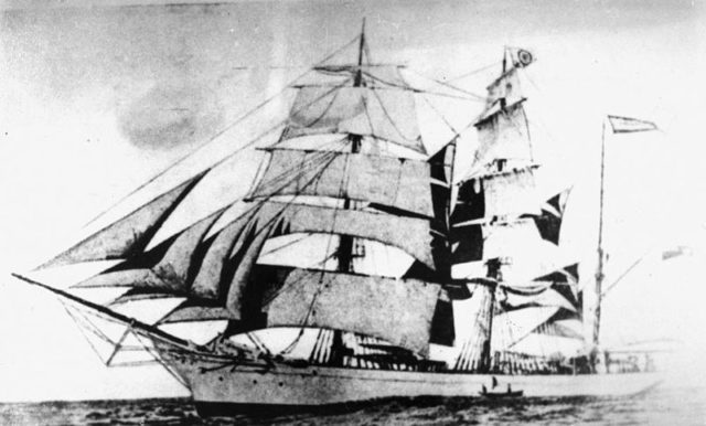 Thermopylae in full sail.
