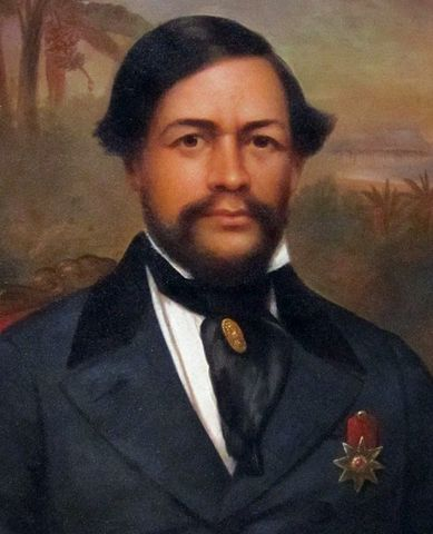 Portrait of King Kamehameha III by an unknown artist, painted in Boston from a daguerreotype. It is now in the Bishop Museum in Honolulu.