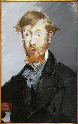 Portrait of George Augustus Moore by Édouard Manet, 1879.