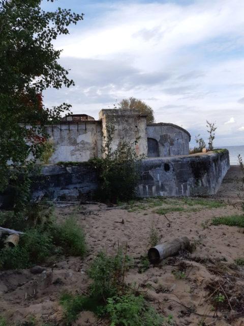 Reef Fort's wall facing Terijoki (Zelenogorsk)