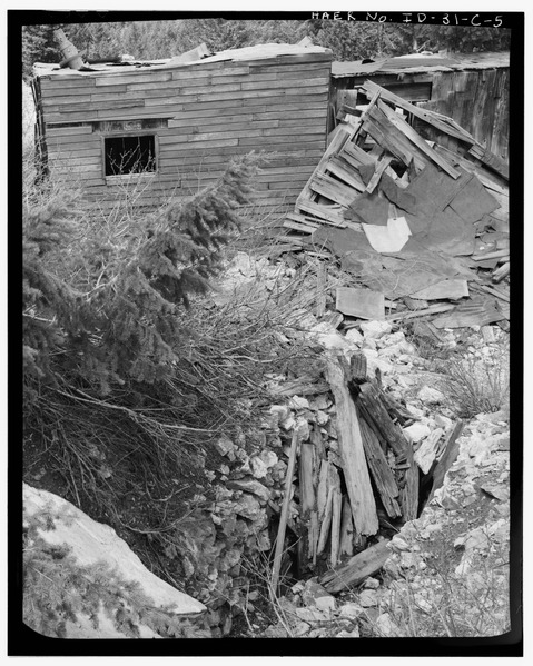 Abandoned and collapsed mine.