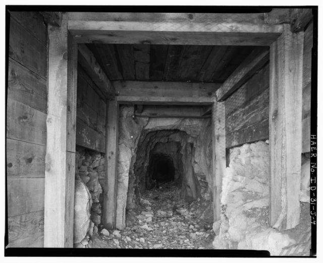 Inside one of the mine pits.