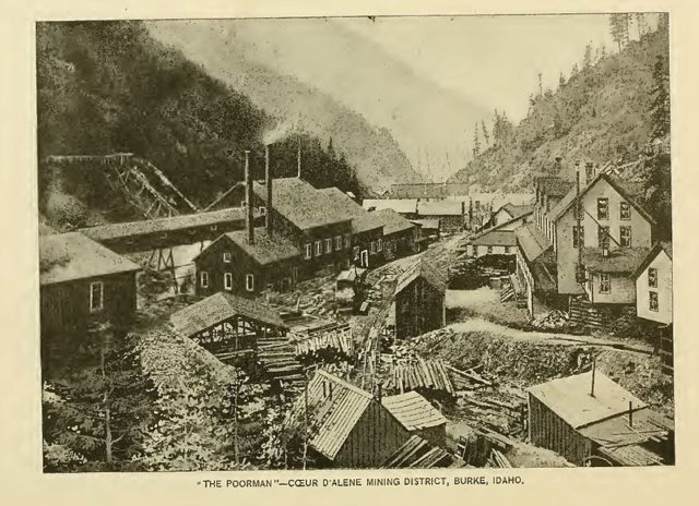 The town back in 1890. Author:Northern Pacific Railroad
