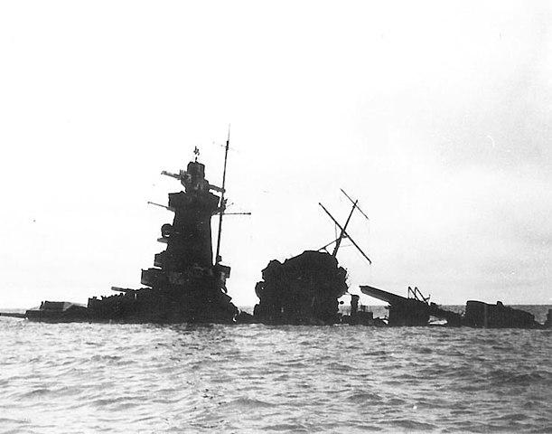 Graf Spee wreck in 1940