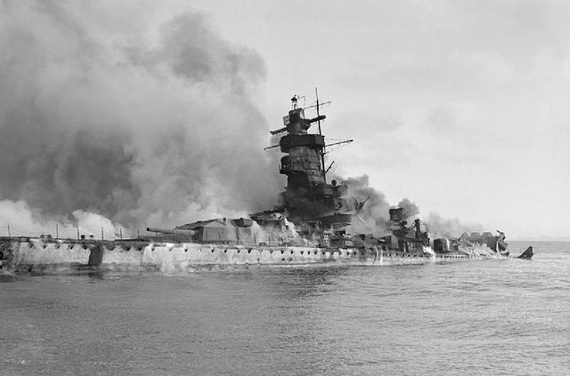 It was deliberately sunk by the Germans