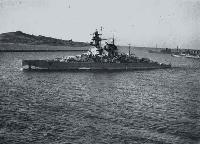 Admiral Graf Spee in Montevideo following the battle