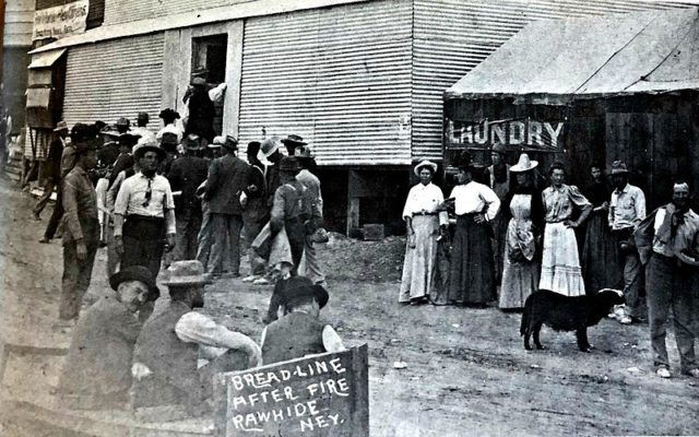 After the fire in September of 1908, the town was put under martial law. Special relief wagons were sent from Reno.