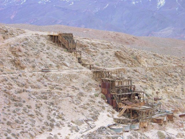 The remains of Hammer Mill, Skidoo, Death Valley National Park.