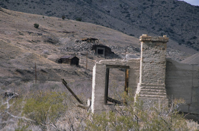 The remains of Lake Valley silver mine town.