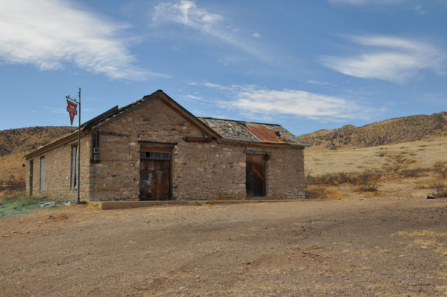 The once-thriving town had a population of around 4,000 – today only a handful of buildings remain.