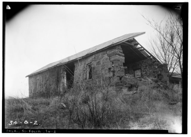 Blacksmith Shop, Garrison Avenue, Fort Gibson, Muskogee County, OK. Historic American Buildings Survey, Library of Congress Prints and Photographs Division