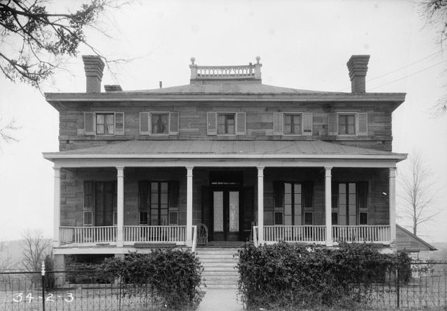 The Commandant's Quarters atFort Gibson, March 2, 1934. Historic American Buildings Survey, Library of Congress Prints and Photographs Division
