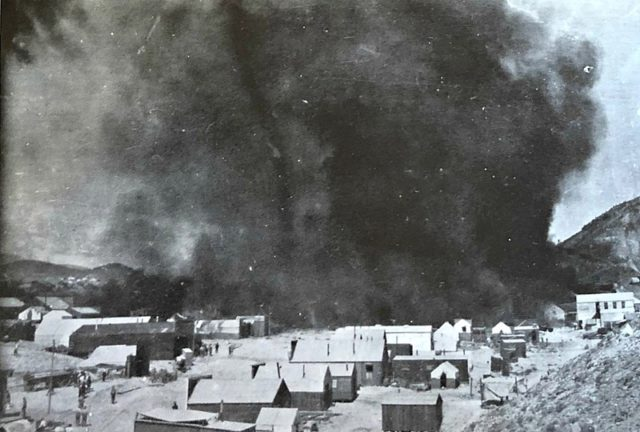 The devastating fire in Rawhide, Nevada on September 4, 1908 caused over $1 million in property damage and left thousands homeless.