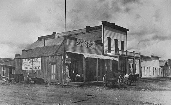 Main Street and the General Store, 1890. Author:Lake Valley Museum