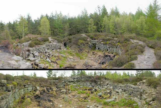Tappoch or Torwood Broch, a pre-historic communal roundhouse, was first excavated in 1864 by Colonel Joseph Dundas. Photograph taken April 2007/ Author: © Nigel J C Turnbull – geograph.org.uk/p/435344 – CC BY-SA 2.0