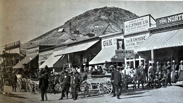 Streets of Rawhide, Nevada, 1908.