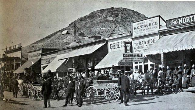 Streets of Rawhide, Nevada, 1908.