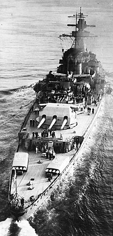 While underway in the English Channel.