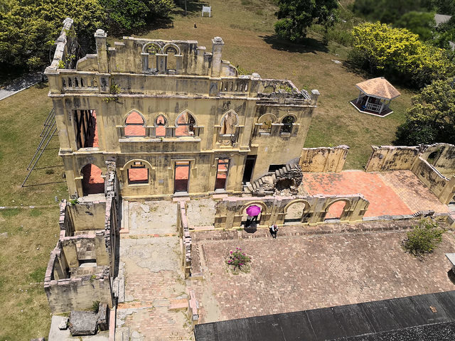 The unfinished section of Kellie's Castle. Author: Leilafadzleen CC BY 2.0