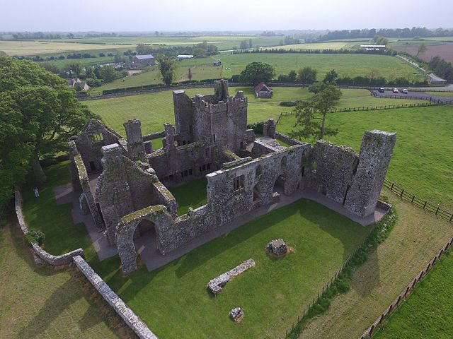 An aerial view of the ruins. Author: Klennon77 CC BY-SA 4.0