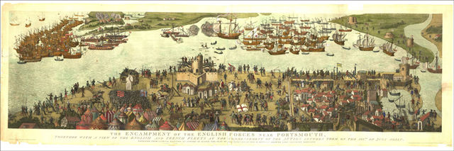 The Cowdray Engraving, which depicts the Battle of the Solent.