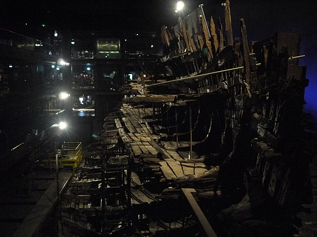 Mary Rose under conservation. Author: Christopher Down CC BY 4.0