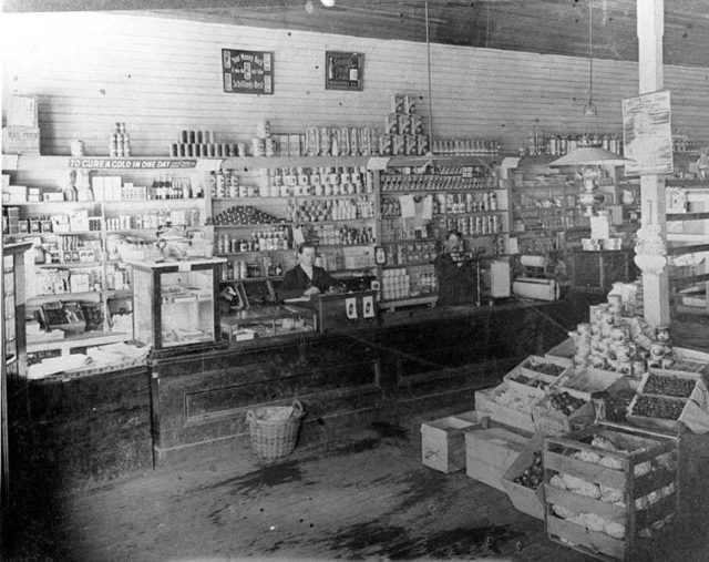Inside one of the stores. Author: University of Washington Libraries, Special Collections