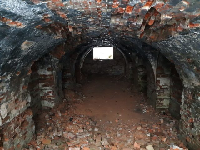 1. Gunpowder cellar: The roof collapsed