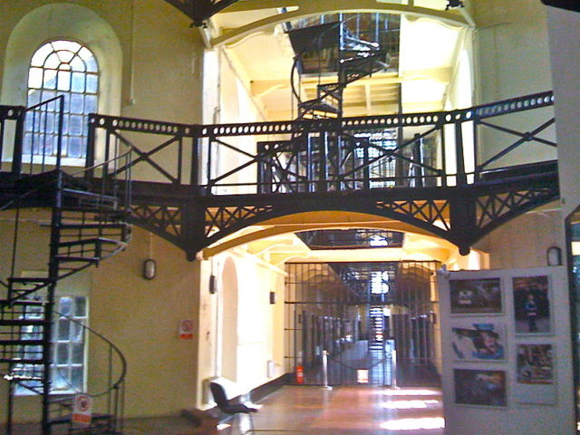 Crumlin Road Gaol was partly based on HMP Pentonville. Author:Agadant CC BY-SA 3.0