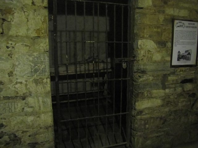 This close-up of a prison cell gives some idea of the horrible conditions. Author:Robert Linsdell CC-BY 2.0