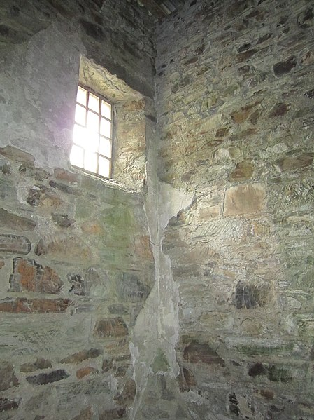 The grim view from inside one of the prison cells. Author:Robert Linsdell CC BY 2.0
