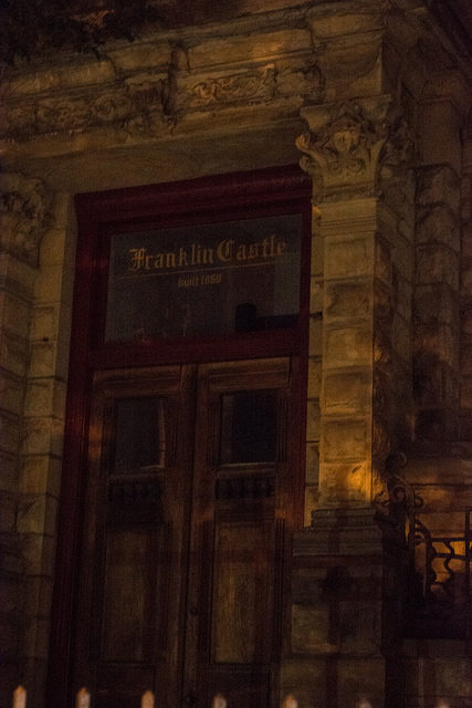 The Main Entrance to Franklin Castle makes it look like a scary place! – Author: Tim Evanson – CC BY 2.0