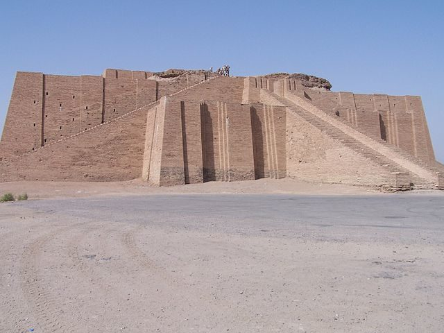 The Ancient Ziggurat of Ur has got to be one of the most impressive pieces of ancient architecture- Author: Hardnfast – CC BY 3.0f