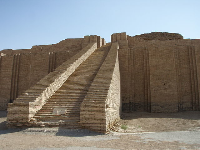 The main staircase entrance to the Great Ziggurat of Ur is an incredible structure  – Author: Kaufingdude – CC BY-SA 3.0