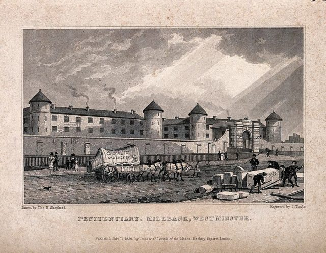 This Engraving of the prison shows what it looked like back then. Author: Wellcome Collection gallery – CC BY 4.0