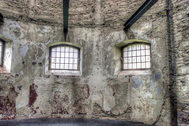 The jail's interior today gives some idea of the conditions when it was in active use. Author: psyberartist CC BY 2.0