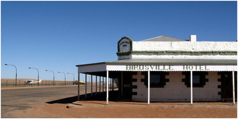 The Birdsville Hotel is a melancholy-looking place now. Author: Stuart Edwards.