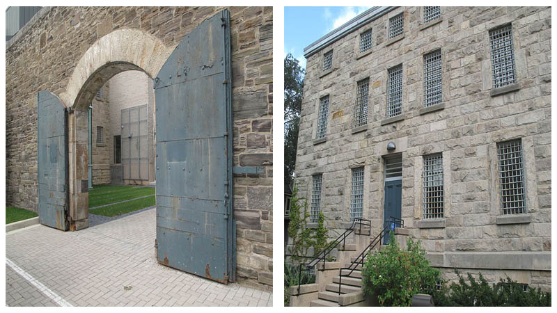 Left: The prison gates. Right: Front view of the prison. Photos by Brian Peiris CC BY-SA 3.0